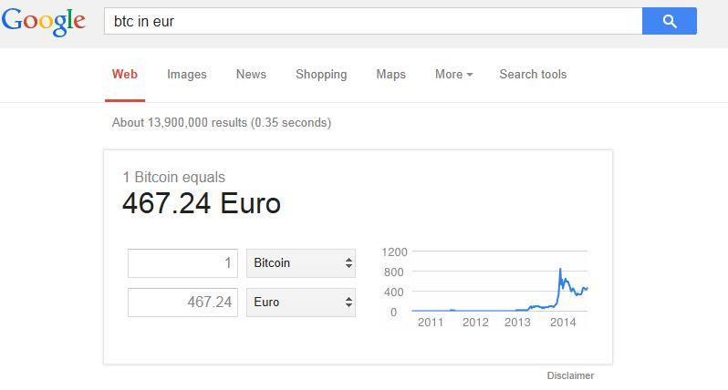 Google Bitcoin Umrechnung [Bild]