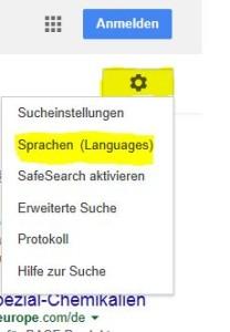 Google Spracheinstellungen