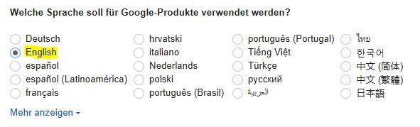 Google Spracheinstellungen 2